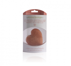 French Pink Clay Konjac Heart Sponge